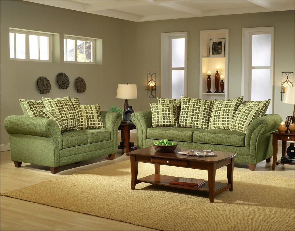 Living Room , Green Living Room Ideas For Fresh Interior Look : Soft Green  Sofa Combined