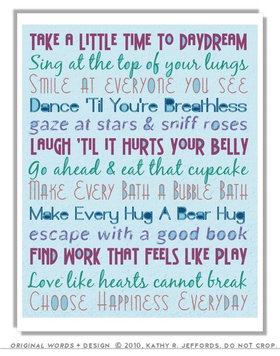 Live Life Art Positive Motivational Print Inspirational To Do List Typographic Print Blue Office Wall Art Dorm Motivational Prints Positivity Positive Art
