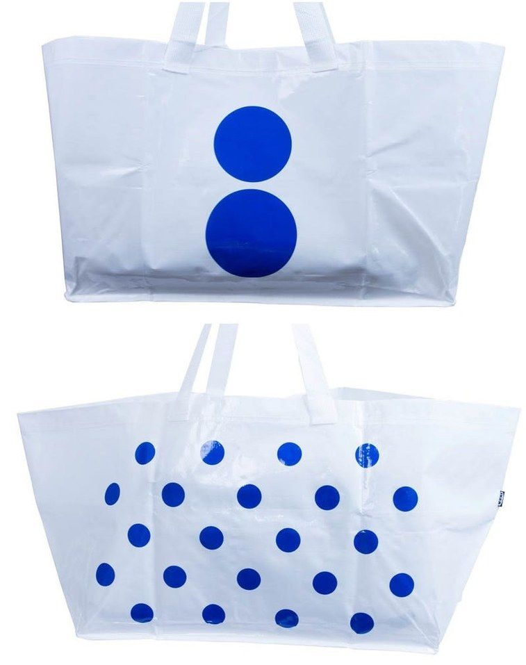 Colette has redesigned Ikea's blue bag - Vogue Living