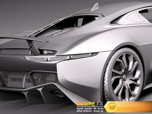 Jaguar C X75 2014 3D Model Http://www.desirefx.me