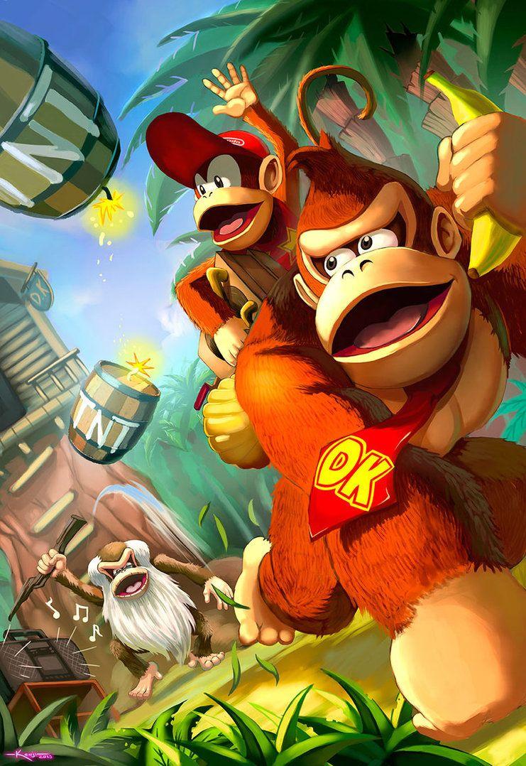 Donkey Kong Country By Dramegar Retro Gaming Art Donkey Kong Mario Art