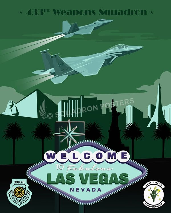 Share Squadron Posters for a 10% off coupon! Nellis AFB 433d Weapons Squadron #http://www.pinterest.com/squadronposters/