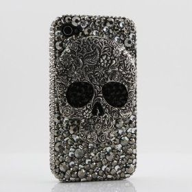 3D Swarovski Crystal Bling Case Cover for iphone 4 4S AT Verizo & Sprint Skull Design  #skull #iphone #iphonecase