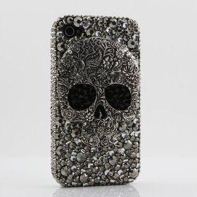 3D Swarovski Crystal Bling Case Cover for iphone 4 4S AT Verizo & Sprint Skull Design  #skull #iphone #iphonecase