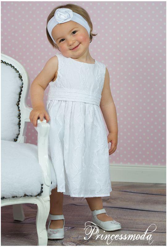 SR3a  Bezauberndes Taufkleid aus Ökobaumwolle in Weiß!  Princessmoda  Alles für Taufe
