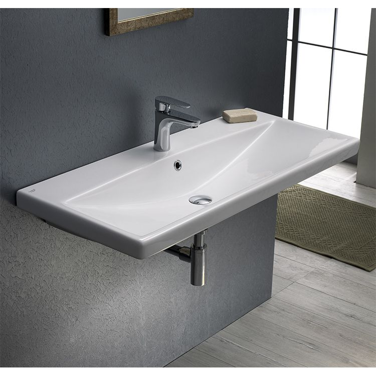 Rectangle White Ceramic Wall Mounted Or Drop In Sink Drop In Bathroom Sinks Bathroom Sink Small Bathroom Sinks Rectangle drop in sink