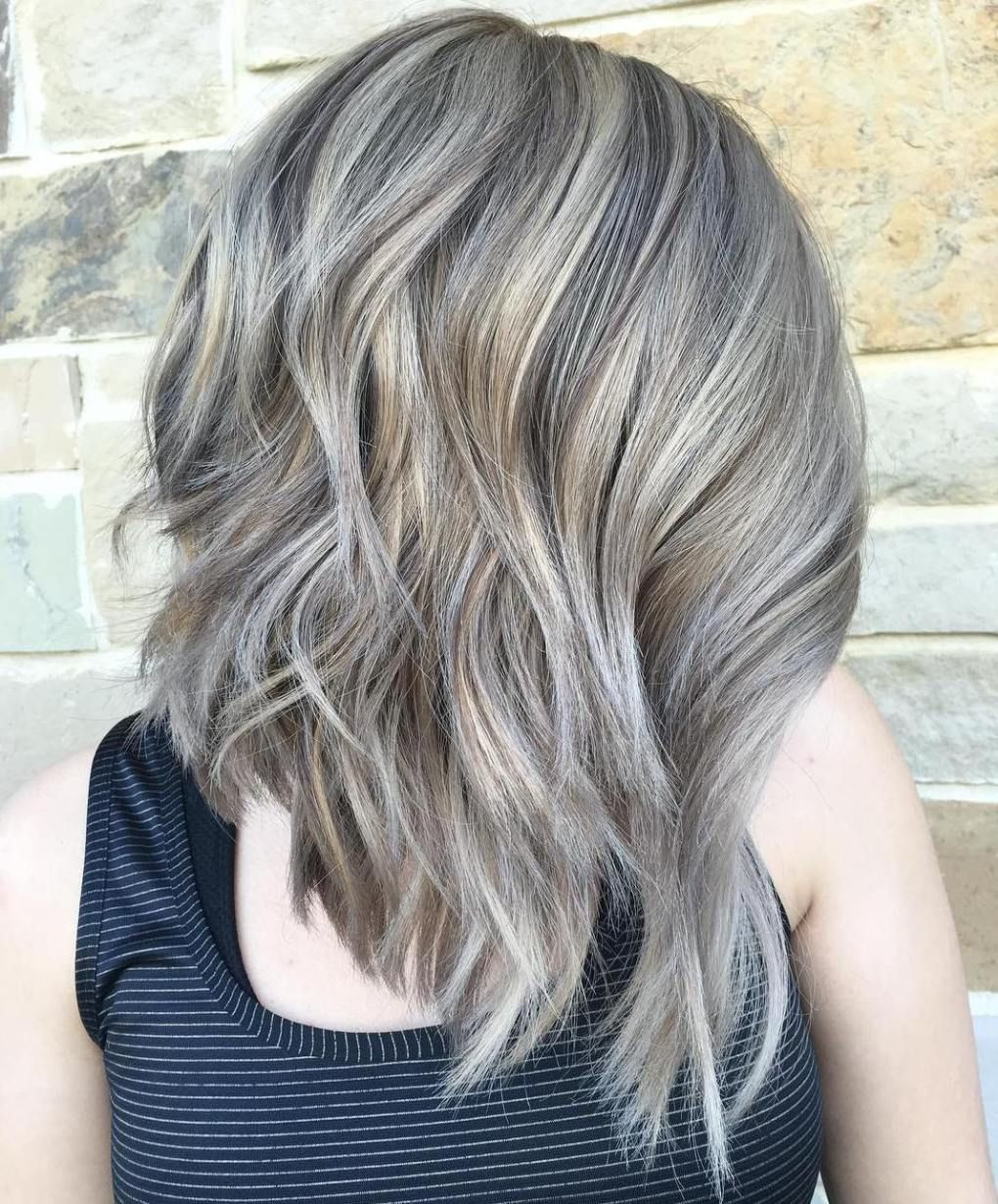 Ash Bronde Choppy Lob Hairstyles Pinterest Lob White