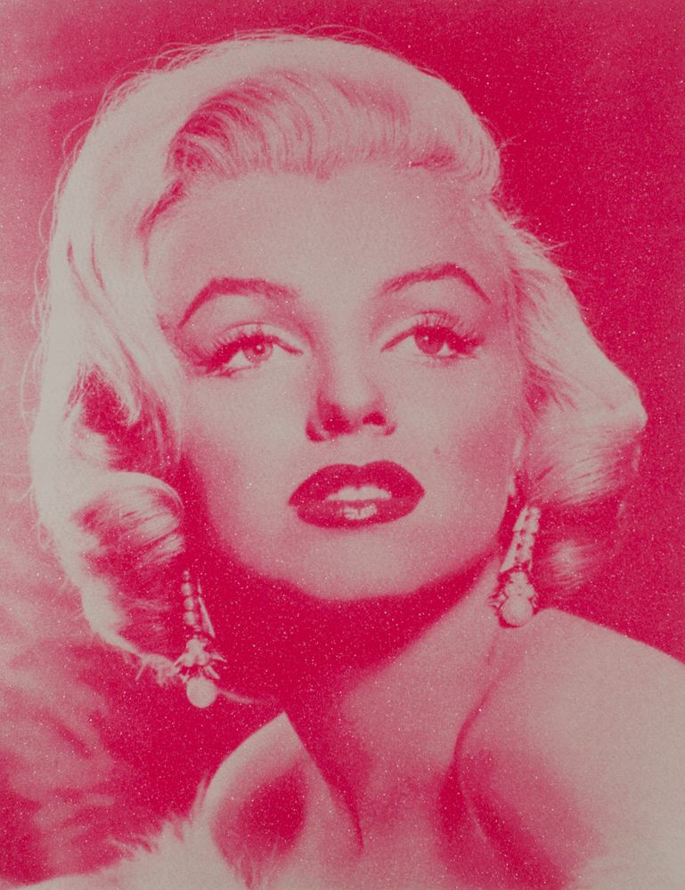 Russell Young - Marilyn Monroe Goddess (White and Hot Pink)
