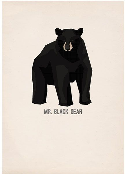 """Mr Black Bear   poster"" in Illustrations"