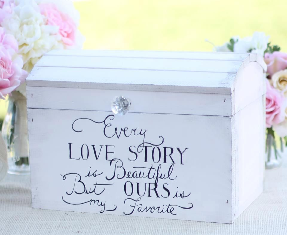 Sweet Keepsake Or Wedding Card Box Also Perfect For The Wine Box