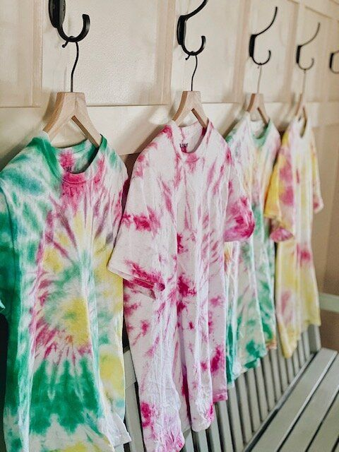 With the children still home for summer, it was the perfect time to tie-dye some t-shirts. The tie-dye kit we used made it so easy to create colorful, fun shirts that have us wanting to tie-dye more projects soon!