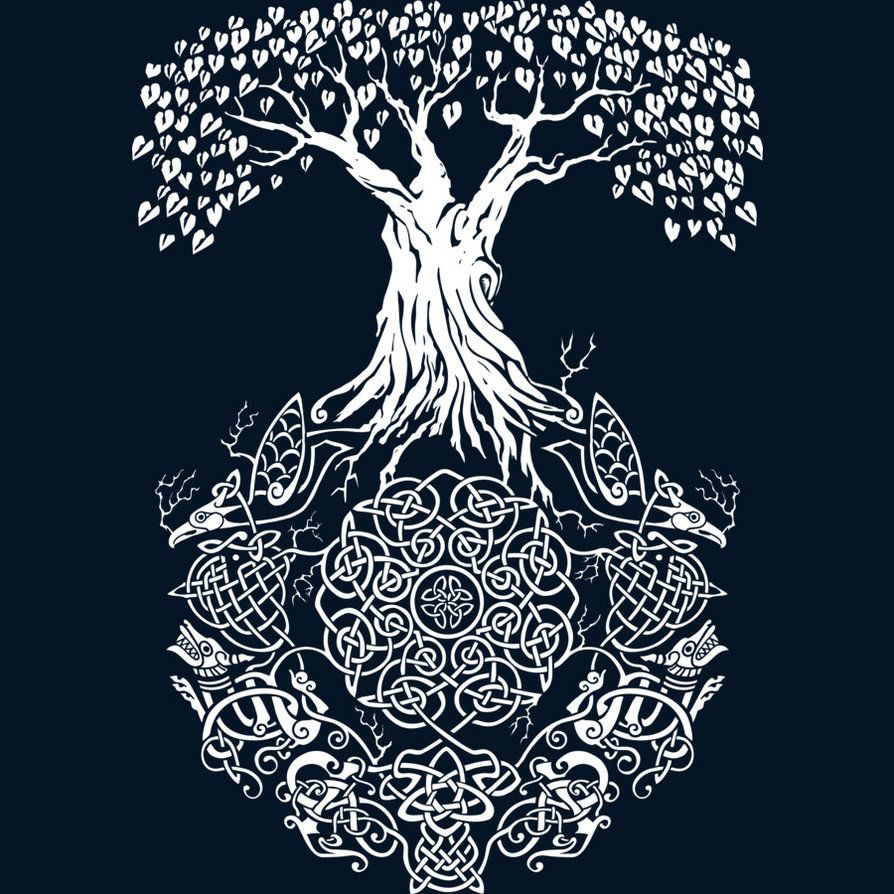 Yggdrasil Tree Of Life By Teeninja Available As A Tshirt Tank Top