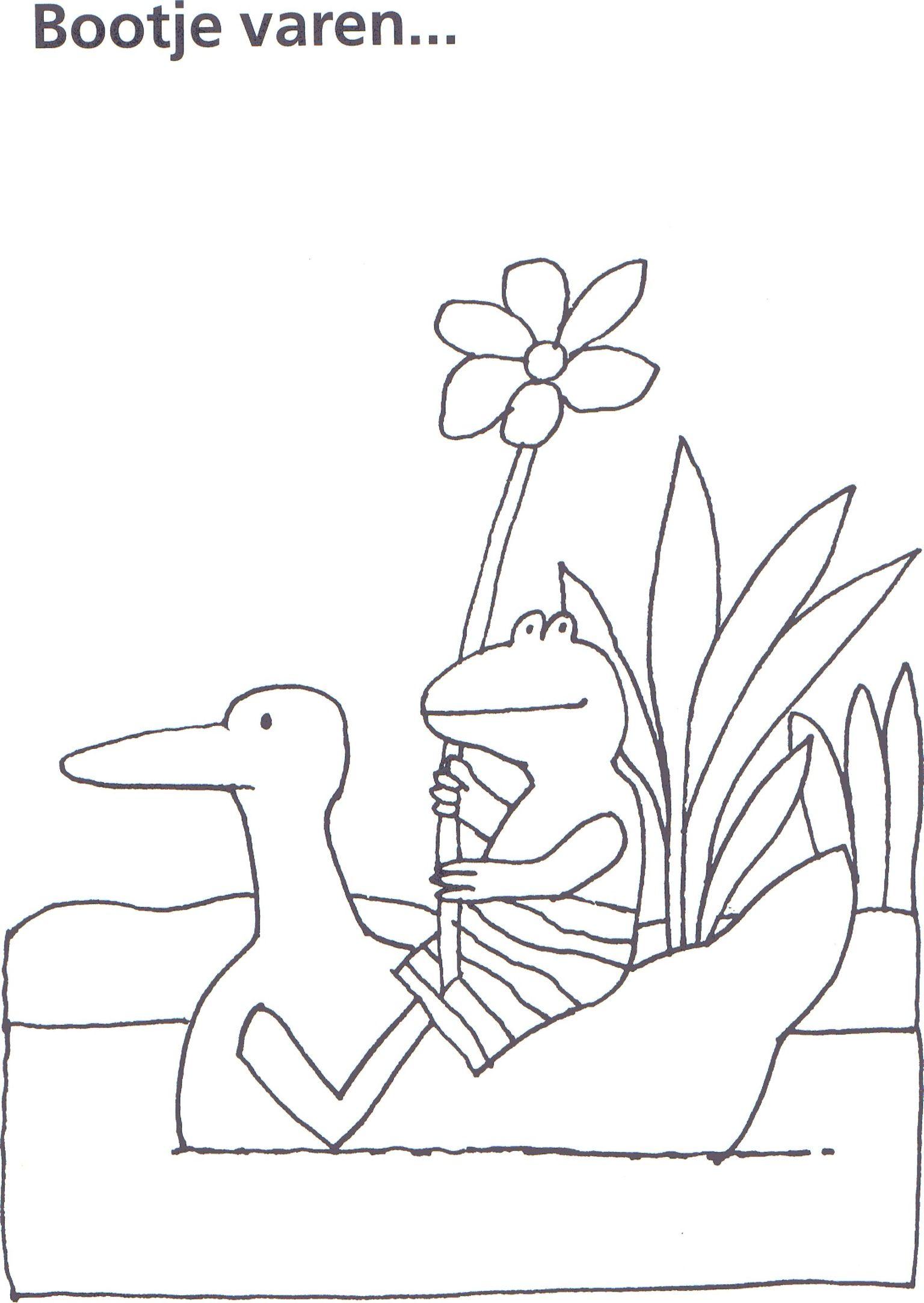 kleurplaten kikker is verliefd