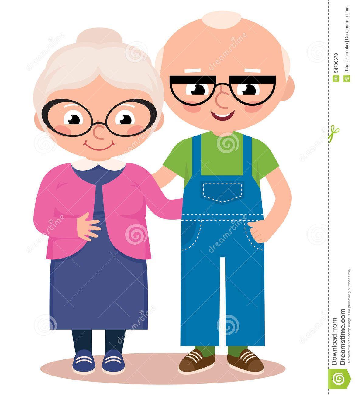 Resultado de imagem para idosos sorrindo desenho