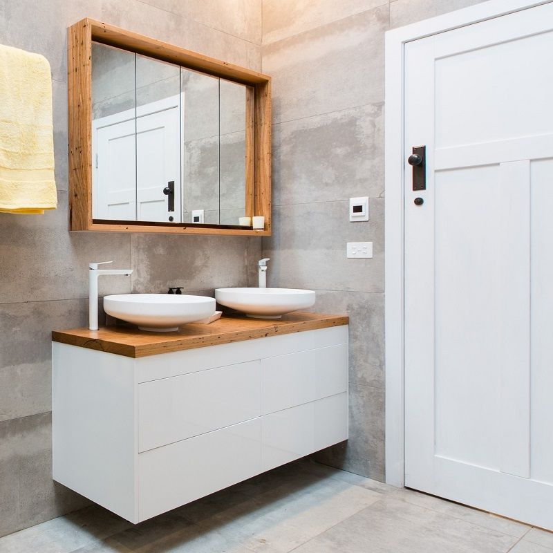 Bathroom Ideas The Block recycled timber top | vanity | bench | deskthe block shop