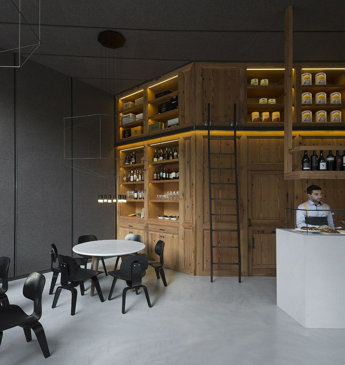 Contemporáneo Gabinetes De Cocina Puerta De Cristal Houzz Molde ...