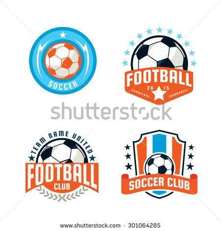 Football Logo Template Collection Design Soccer Team Vector Illustration Football Logo Logos Logo Templates