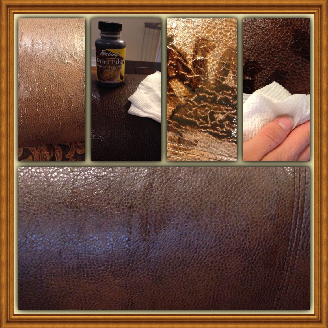 How To Temporarily Repair A Cracked Leather Couch. 1. Coat With Fiebling's  Edge Finish