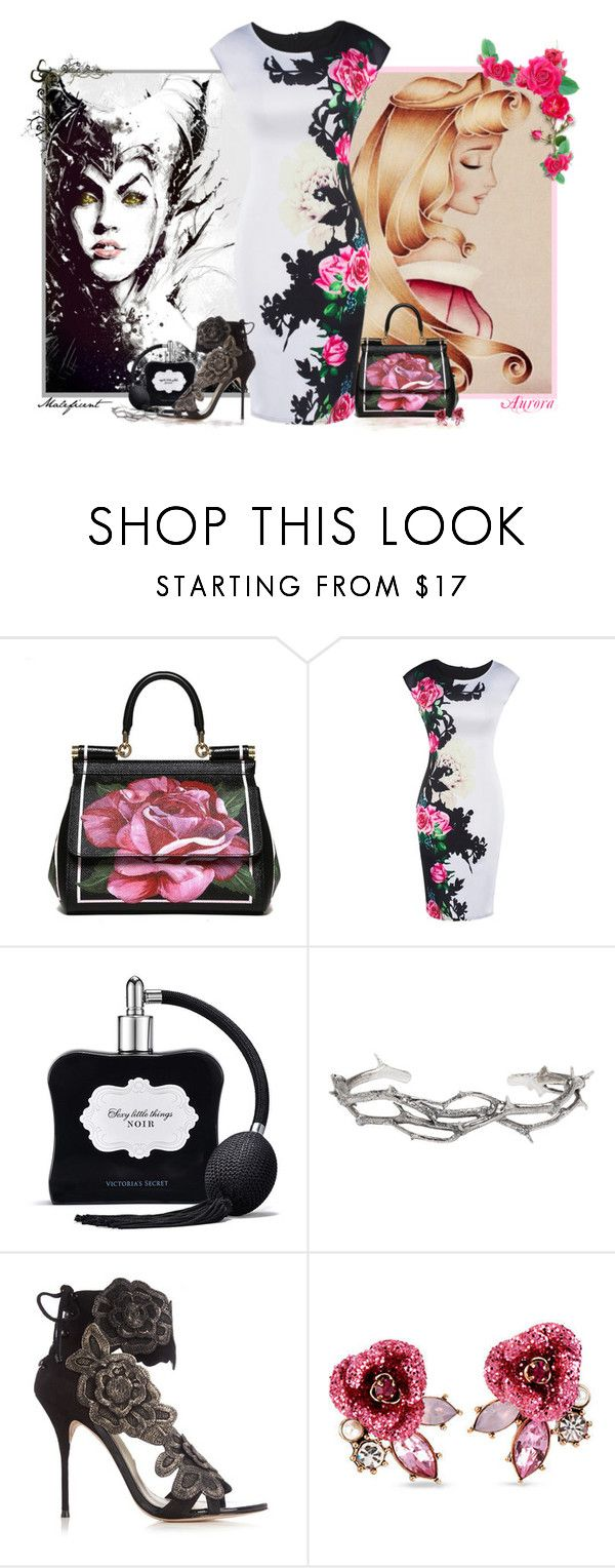 """""""Sleeping Beauty - Intertwined"""" by love-n-laughter ❤ liked on Polyvore featuring Dolce&Gabbana, Victoria's Secret, Pearls Before Swine, Sophia Webster, Betsey Johnson, disney and sleepingbeauty"""