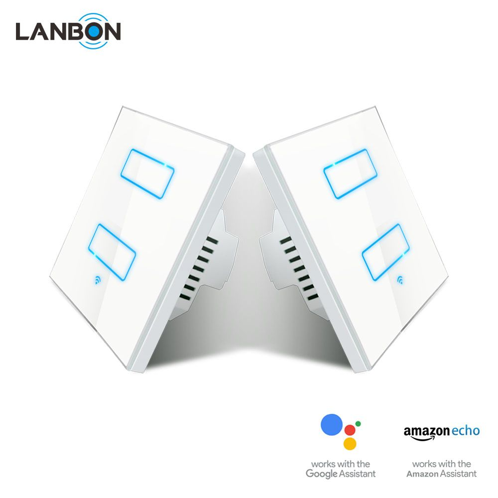 Lanbon Wireless App Remote Control Mutual Switch Wifi Touch In Wall Smart 3 Gang 2 Way 3 Way Switch For Dc12 24v Led L App Remote Remote Control Smart Switches