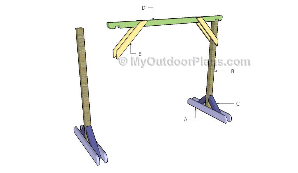 Porch Swing Stand Plans Myoutdoorplans Free Woodworking Plans