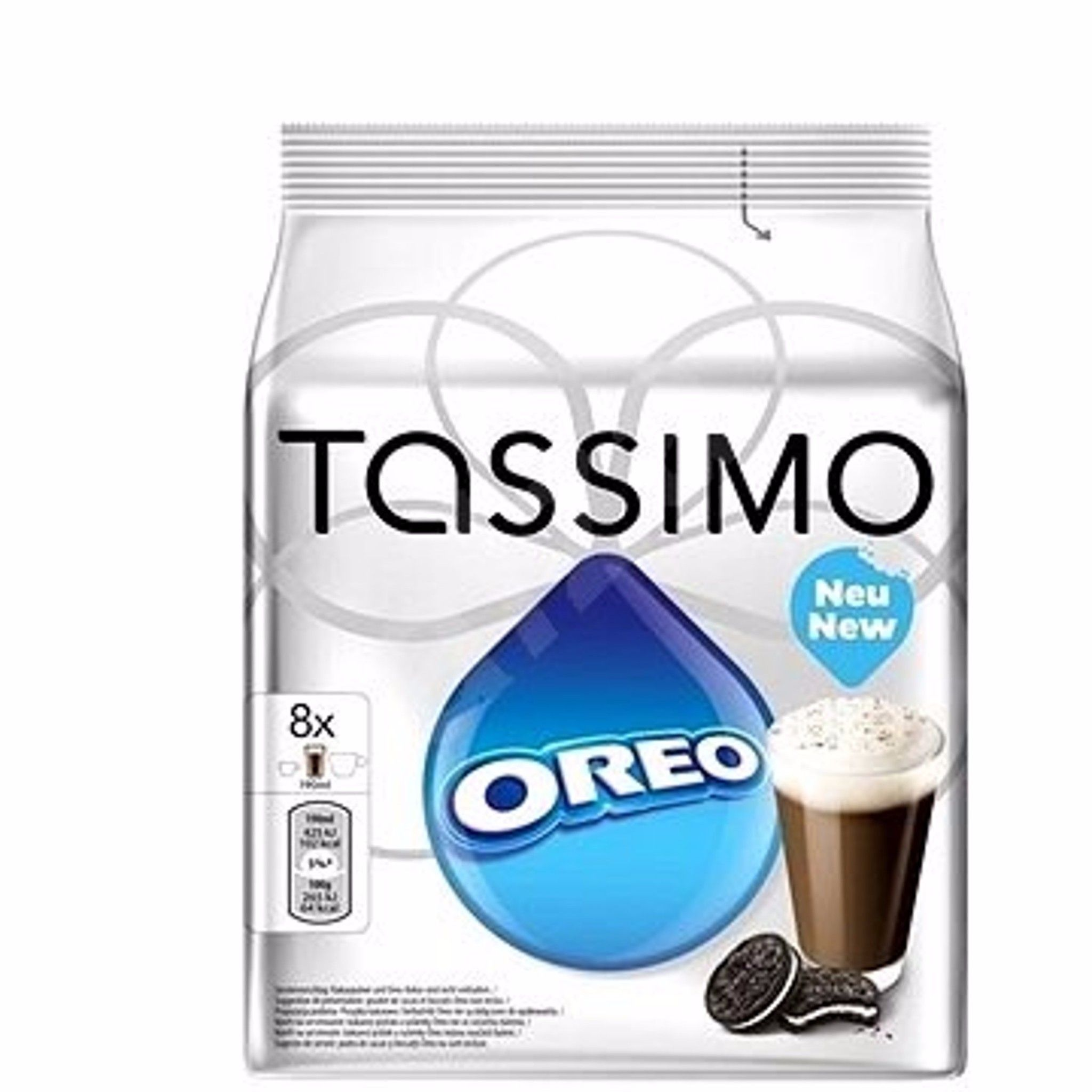 Tassimo Oreo Hot Chocolate Coffee Pods Food Hot