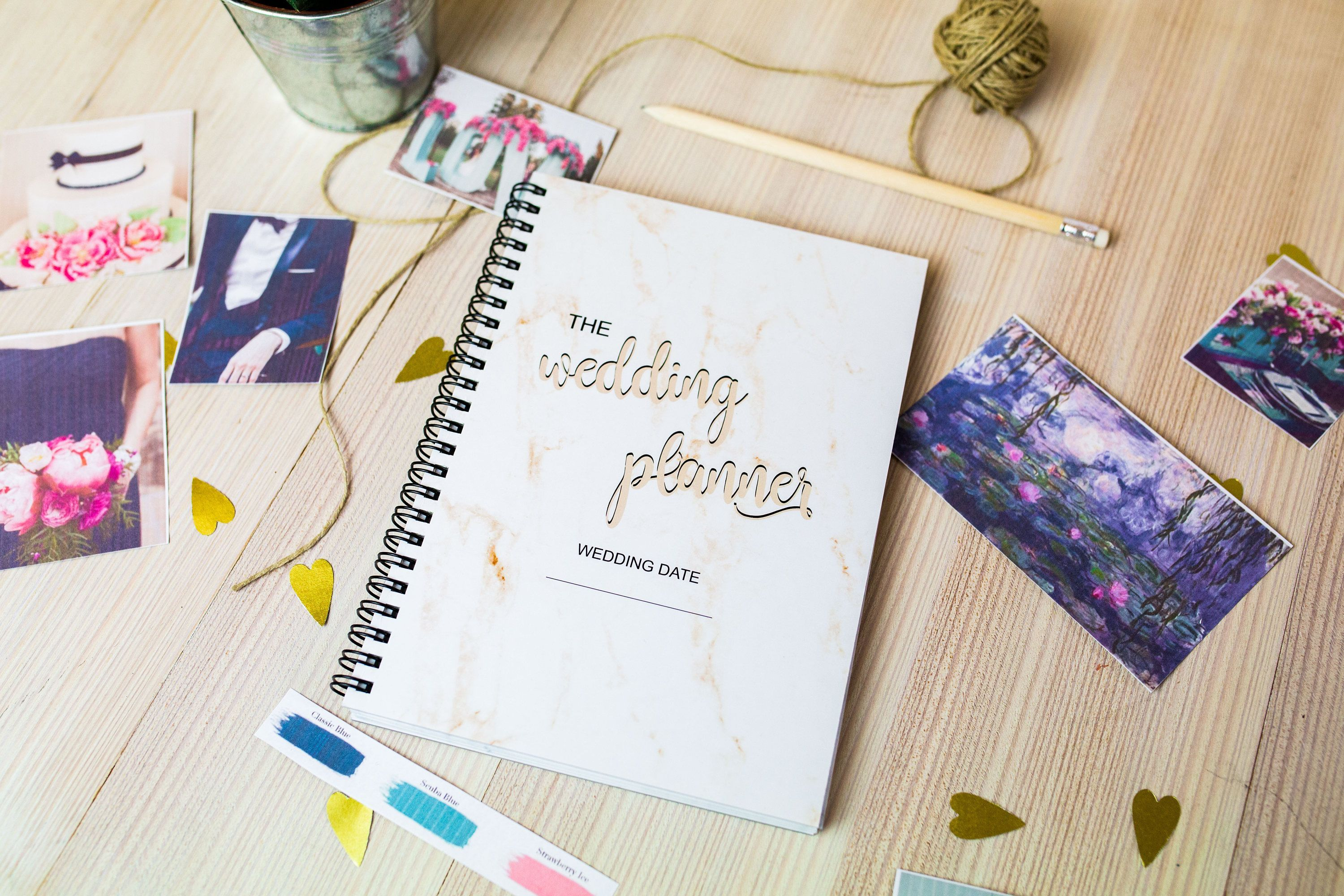 A5 Wedding planner binder book for engagement gift, Wedding diary, Bridal planner, daily plan... -   15 wedding Planner diary ideas