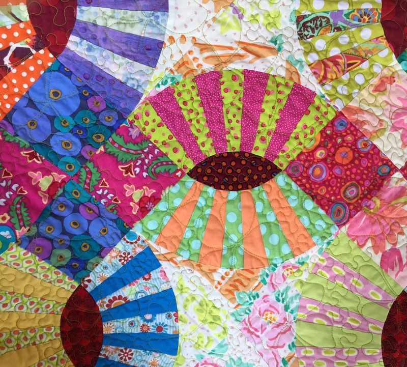 Lots of Dots Lee Fowler's pickle dish quilt at First