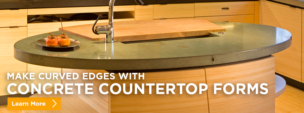 Make Curved Edges With Concrete Countertop Forms Learn More