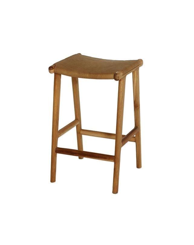 Surprising Maya Counter Stool Flat Leather Tan Lodge Bar Stools Evergreenethics Interior Chair Design Evergreenethicsorg