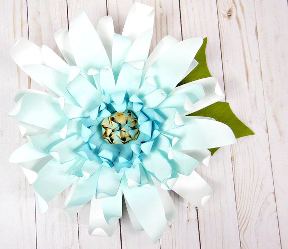 Set of 4 Large Paper Flower Templates Printable PDF Flower   Awesome ...