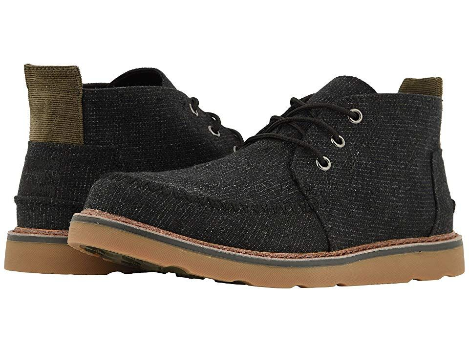 323cad3fafe13 TOMS Chukka (Black Melange Woven) Men s Lace up casual Shoes. With every  pair of shoes you purchase TOMS will give a new pair of shoes to a child in  need.