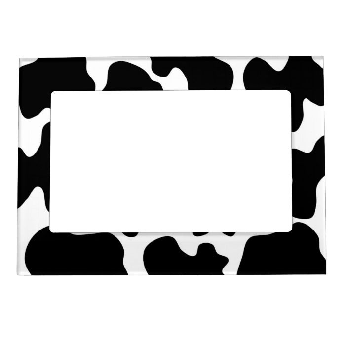 Cow Print Pattern Magnetic Frame