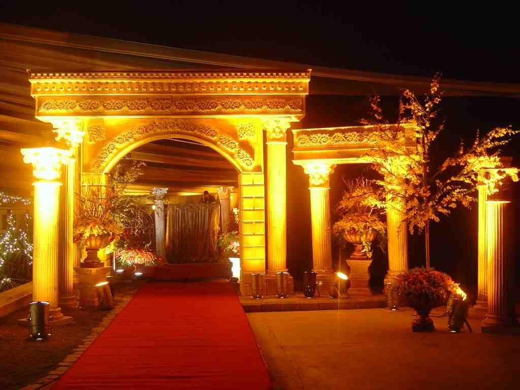 Roman theme wedding decoration with flowers and lights by wedding roman theme wedding decoration with flowers and lights by wedding decorator in delhi ncr junglespirit Gallery