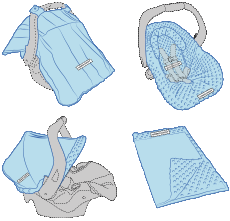 Baby Swaddle Pattern Free Printable | Carseat Canopy Whole Caboodle - Knott