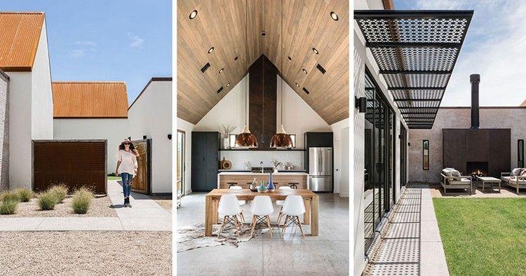 metalldach mit rostoptik holzdecke hausdesign | Interieur & Deco ...