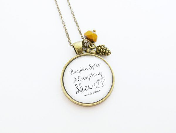 Pumpkin spice and everything nice handcrafted fall pendant pumpkin spice and everything nice handcrafted fall pendant necklace indie etc mozeypictures Image collections