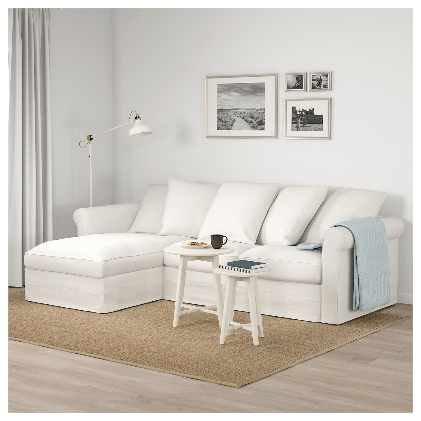Gronlid Sofa With Chaise Inseros White Living Room Decor Inspiration Modern White Living Room Sofa