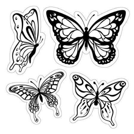 Amazon.com: Inkadinkado Butterflies Cling Stamp: Arts