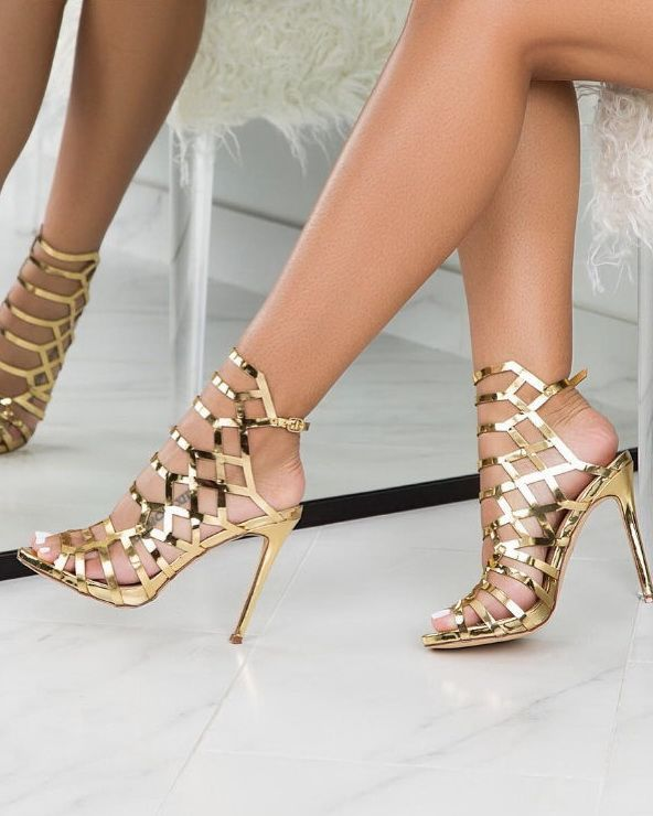 f4dcf3c13e9 These 35 Gorgeous Heels Are Trending Hard Right Now | Shoes | Gold ...