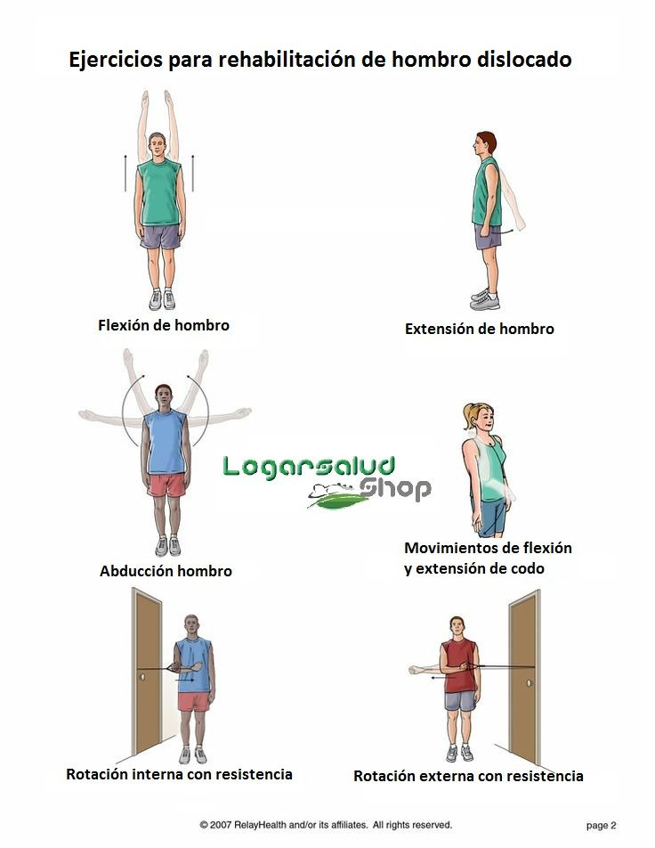 Ejercicios para #rehabilitación de luxación de hombro ...