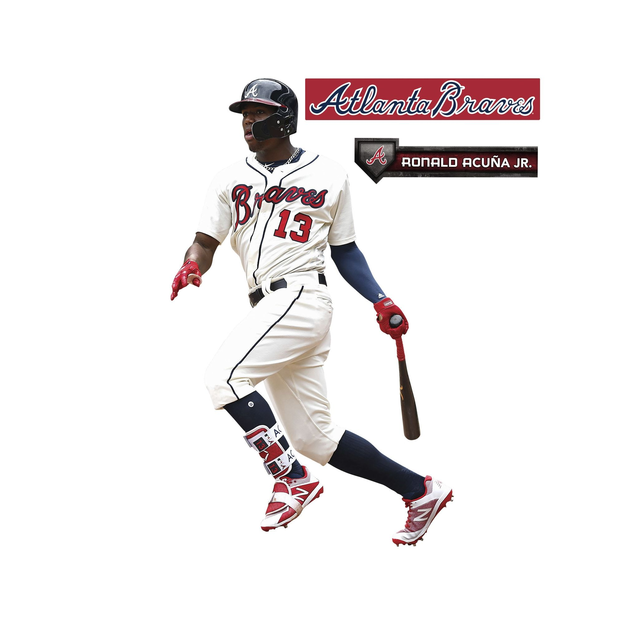 Ronald Acuna Jr Life Size Officially Licensed Mlb Removable