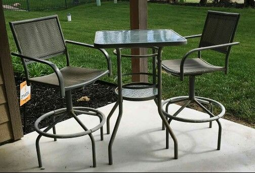 Pub patio set