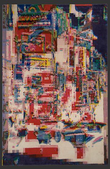 design 'Tokyo 11' by Jan Kath, handknotted in Nepal from Tibetan Highland wool + silk,