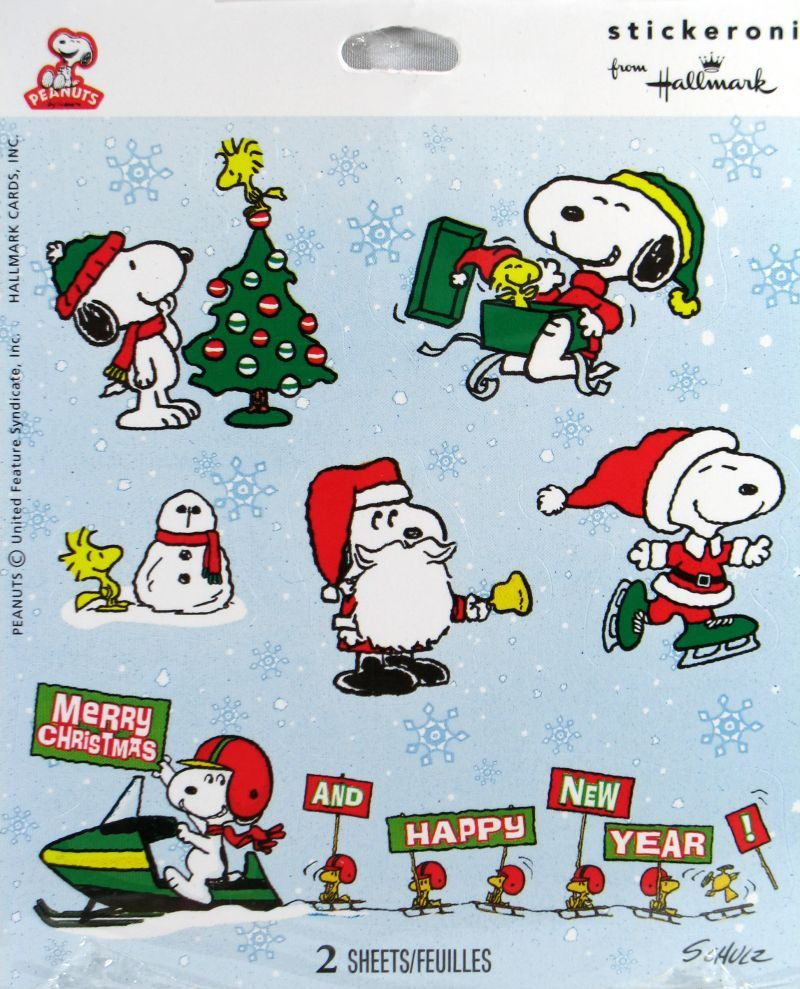 Snoopy Stickers Natale