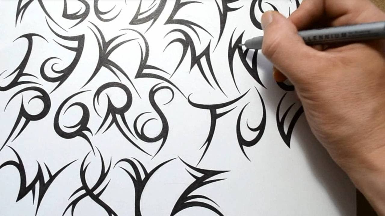 How To Draw A Tribal Font Tattoo Lettering Alphabet Tattoo Designs Design Your Tattoo