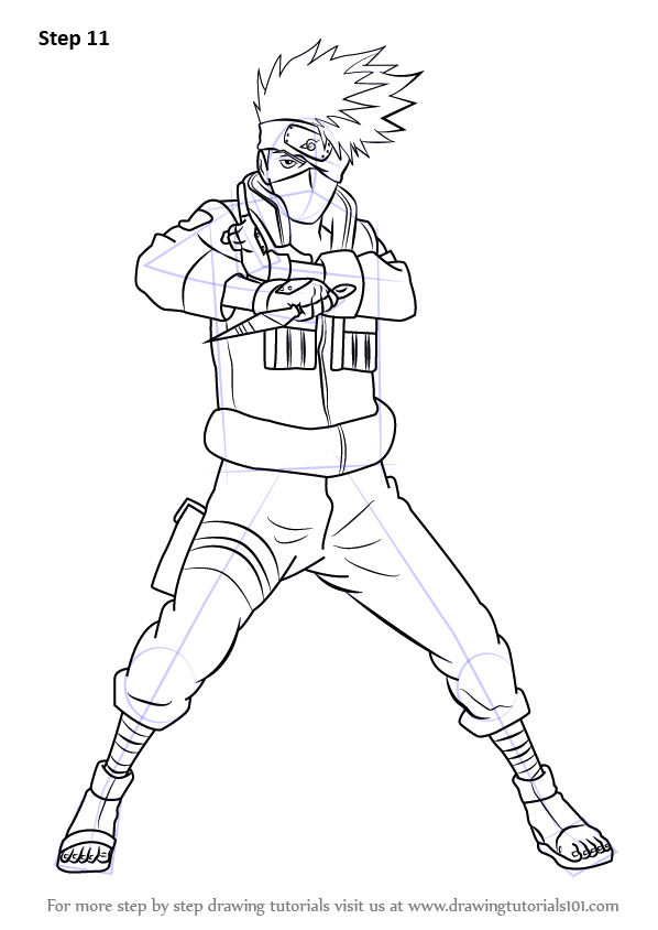 Learn How To Draw Kakashi Hatake From Naruto Naruto Step By Step