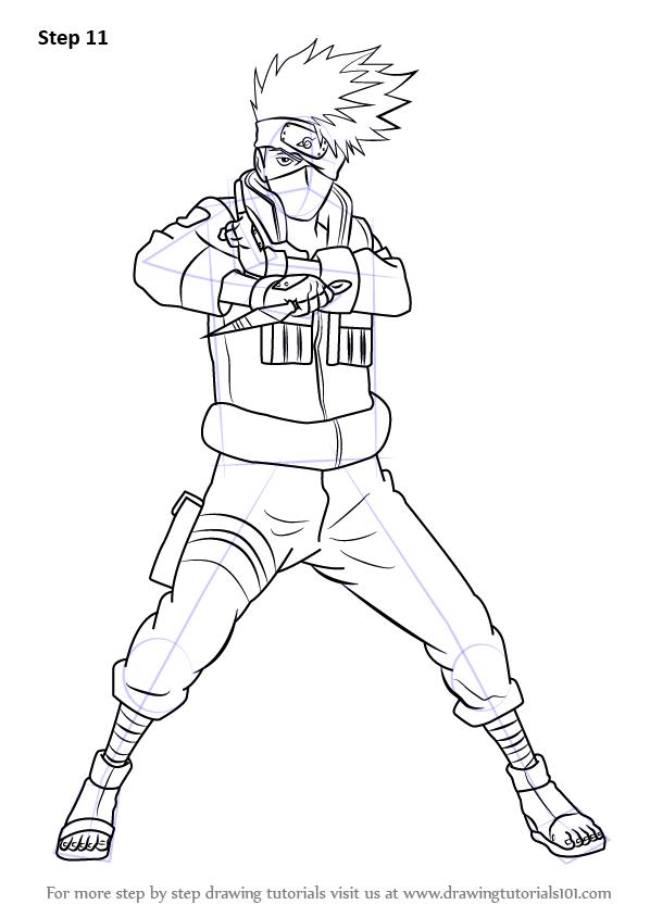 Drawing Anime Easy Kakashi - Learn how to draw kakashi