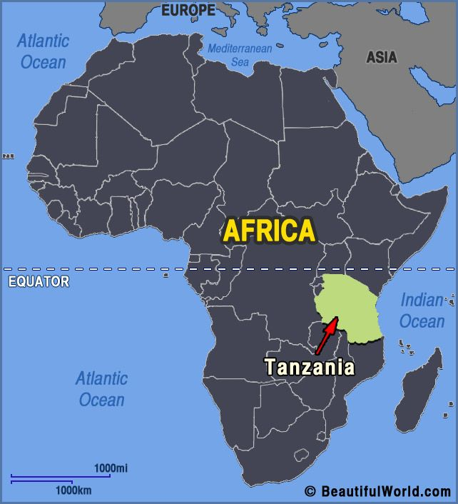 Tanzania Is Located In The Continent Of Africa It Borders The - Where is tanzania located