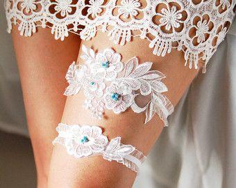 Wedding Garter Set Bridal Garter Set - Lace Garter -  Keepsake Garter Toss Garter Prom Garter Rustic Wedding Boho Wedding